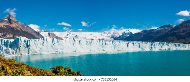 Panorama of glacier Perito Moreno in Patagonia, South America