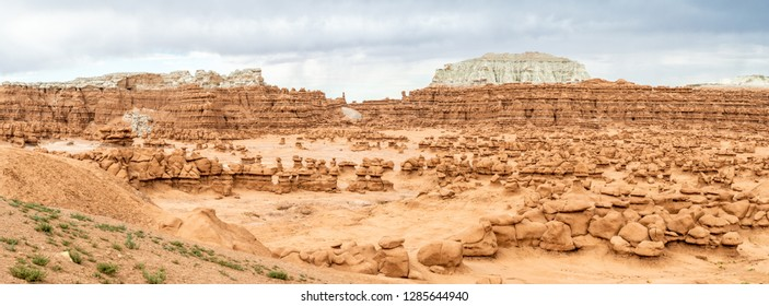 Panorama of Goblin Valley State Park, Utah