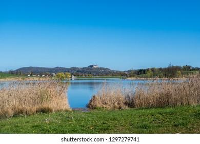 Panorama Goldbergsee Coburg in Bavaria Germany