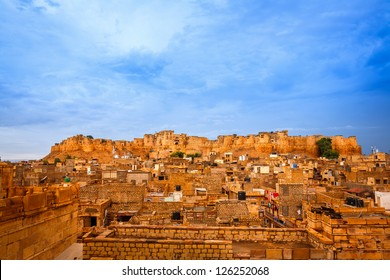 Panorama of the Golden Fort of Jaisalmer, India