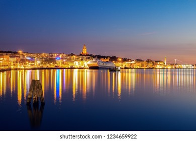 Panorama of Gothenburg. Gothenburg, Vasstergotland and Bohuslan, Sweden.
