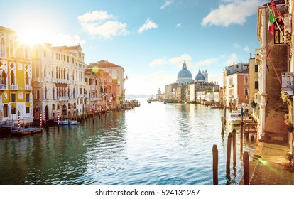 Panorama of Grand Canal in Venice, Italy
