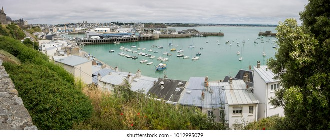 Panorama of Granville Harbour, Normandy, France