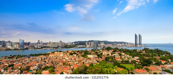 Panorama of Gulangyu Island, Xiamen, China