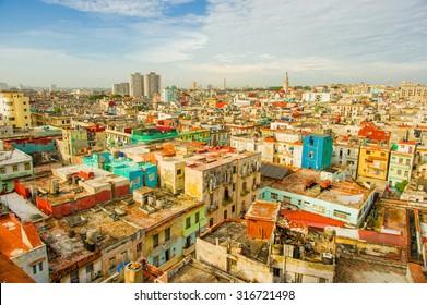 Panorama of Havana city Vedado District