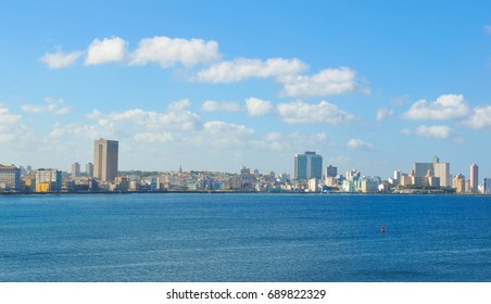 Panorama of Havana, Cuba as seen from the Morro Castle (fortress)