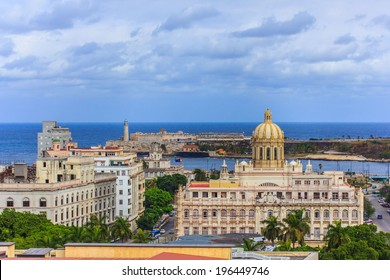 The panorama of Havana with Revolution Museum, Cuba