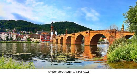 Panorama of Heidelberg at the Neckar