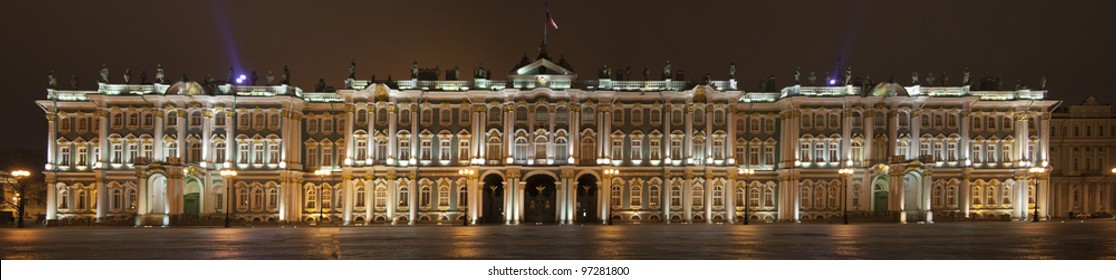 panorama of the hermitage st. petersburg
