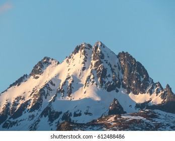 Panorama of high mountains. The High Tatras.