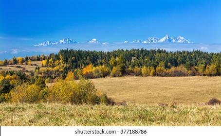 Panorama of High Tatras mountains,Slovakia