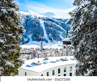 Panorama hiking pass above Davos, Switzerland.