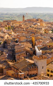 Panorama of the Historic centre of Siena. UNESCO a World Heritage Site