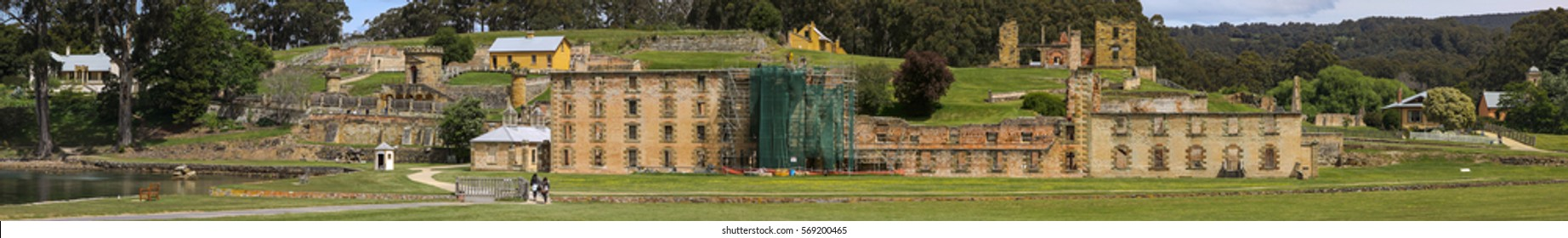 Panorama of historic Port Arthur, Tasmania, Australia