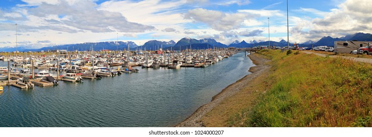 Panorama of Homer in Alaska