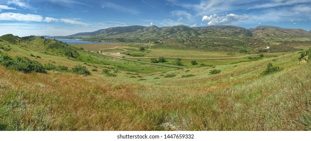 Panorama of Horsetooth Ridge in Colorado