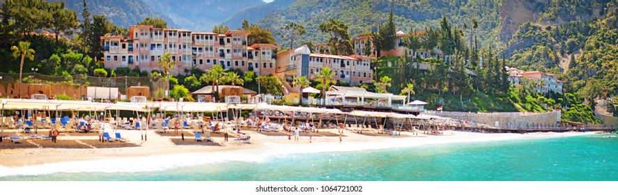 panorama, hotel, Lykia Liberty, Oludeniz, Fethiye in Turkey, landscape with the beach and houses