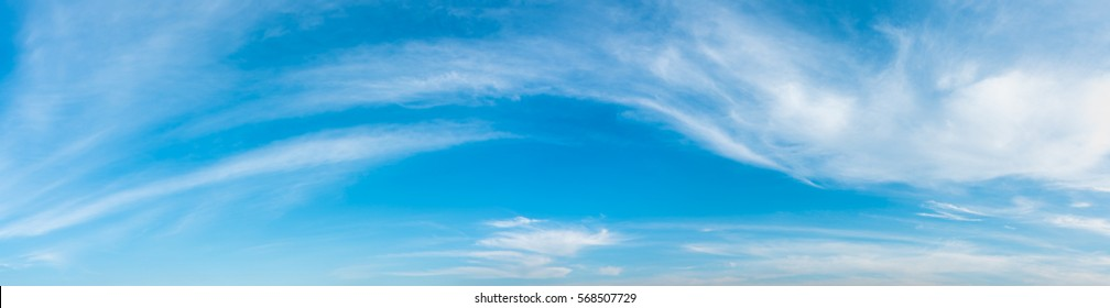 panorama image of blue sky and white cloud on day time for background usage.(horizontal)