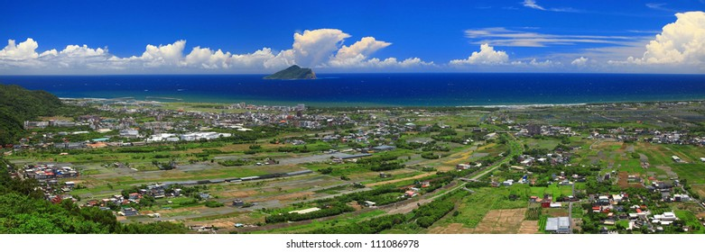 Panorama Image of East Taiwan in Summer