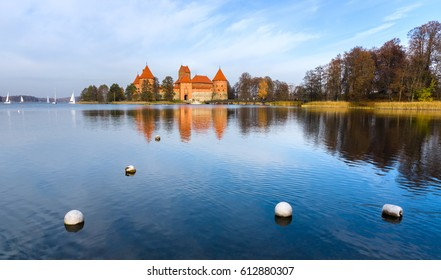 Panorama of island castle Trakai,Lithuania.