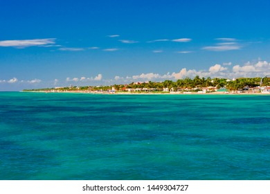 panorama of the island of Cozumel in Mexico in the Caribbean sea