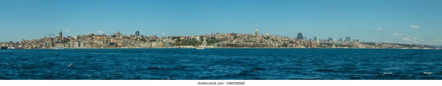 panorama of the Istanbul skyline