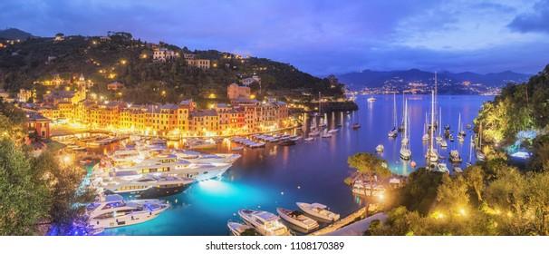 Panorama of the Italian Village Portofino