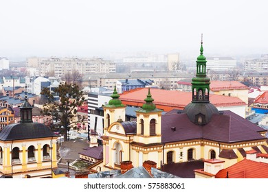 Panorama Ivano-Frankivsk Old Town roofs