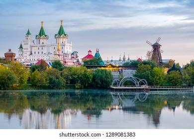 Panorama of the Izmailovo Kremlin in Moscow