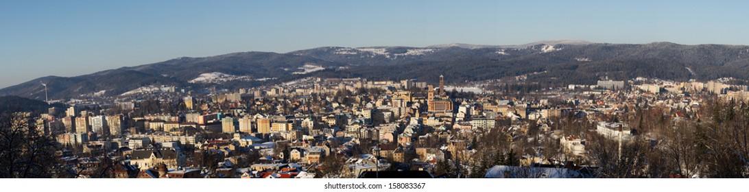 Panorama of Jablonec nad Nisou