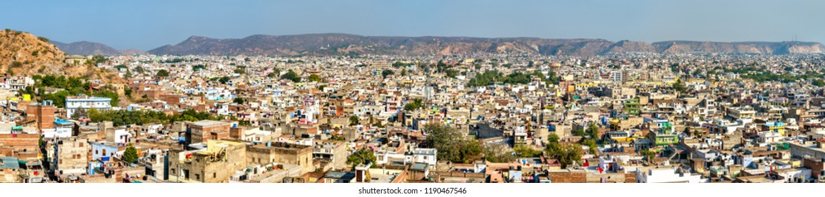 Panorama of Jaipur - Rajasthan State of India