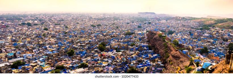 Panorama of Jodhpur from Mehrangarh Fort