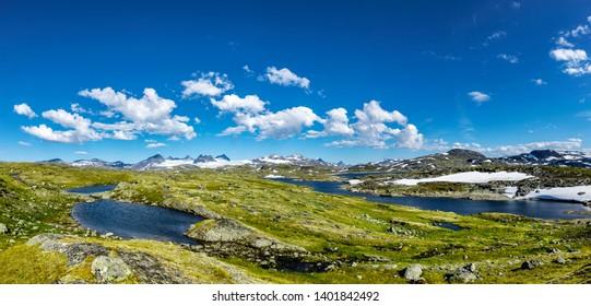 Panorama of Jotunheimen national park Norway