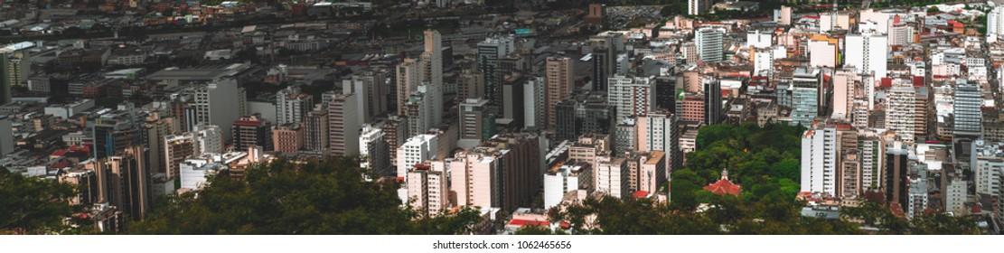 The Panorama Of Juiz De Fora City In Minas Gerais State Brazil Plenty