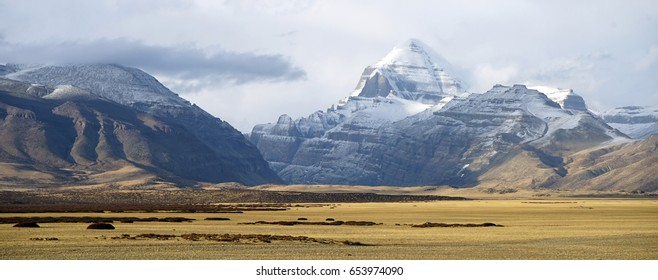 Panorama of Kailash mount in Tibet, China