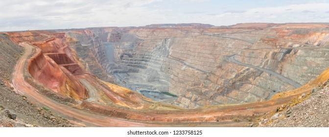 Panorama of Kalgoorlie's super pit