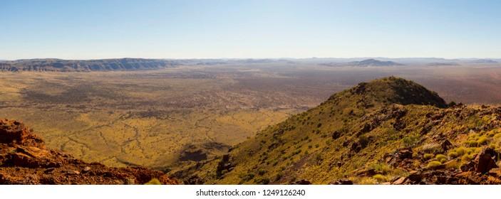 Panorama of Karijini National Park, top of Mount Bruce