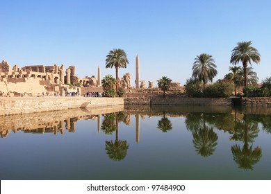 Panorama - Karnak, Temple Complex in Luxor, Egypt