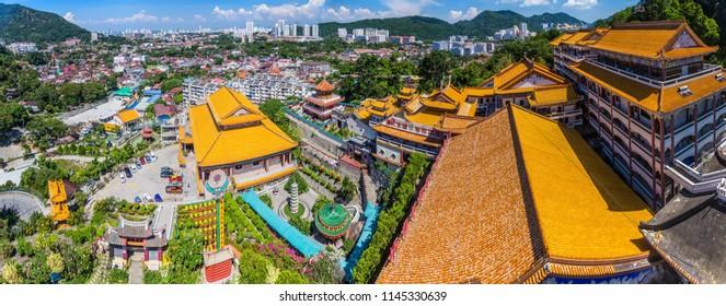 Panorama of Kek Lok Si Temple in Penang island, Malaysia