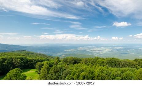 Panorama from Kekes. Kekes is Hungary's highest mountain.