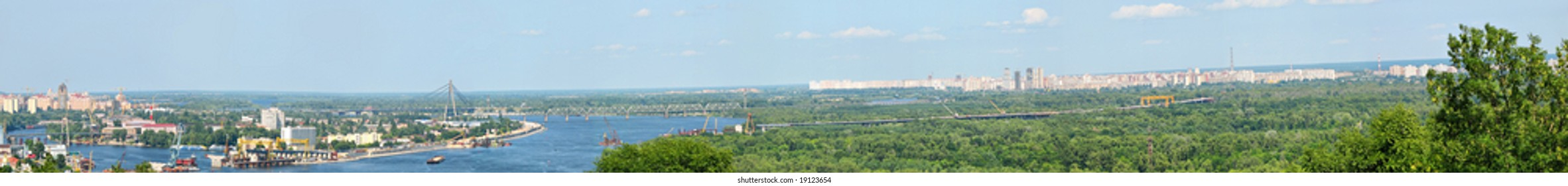 panorama of kiev city - the capital of ukraine