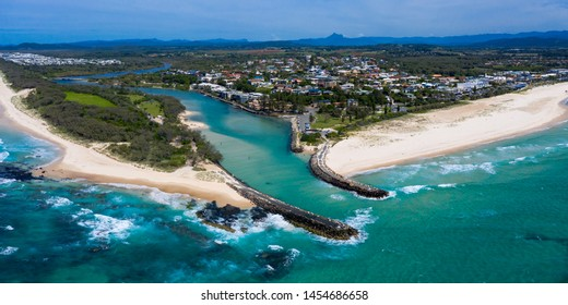 Panorama of Kingscliff on the Northern NSW coast, Australia