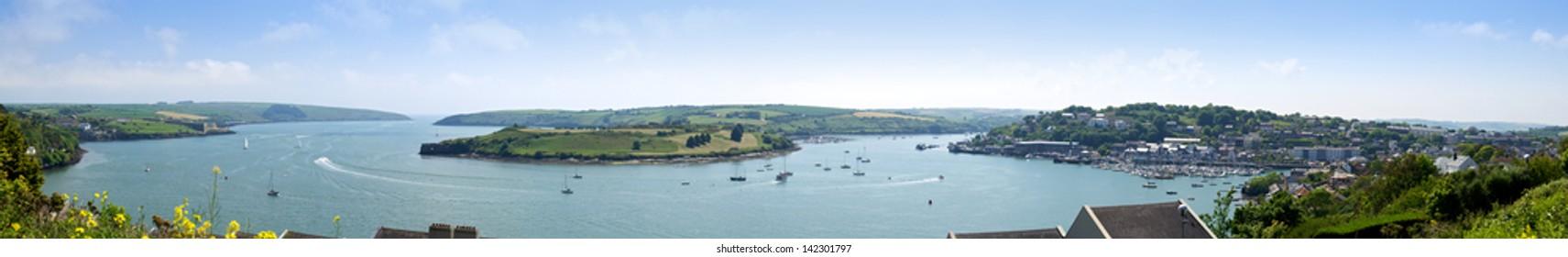 Panorama of Kinsale Harbor in Cork