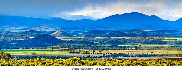 Panorama of Klamath Mountains in northwestern California, United States