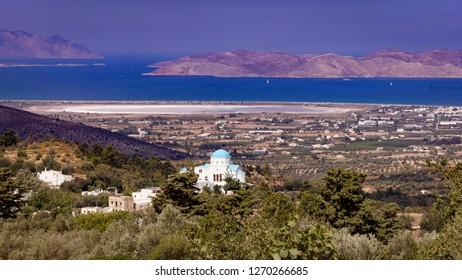 Panorama of Kos Island Greece