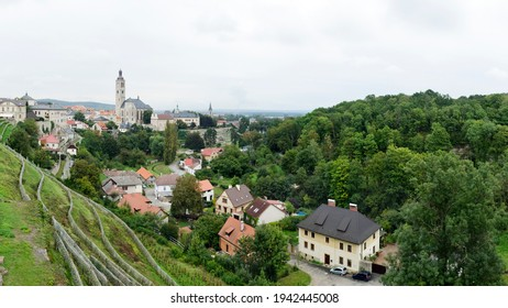 Panorama of Kutna Hora town with church of St. James, Kutna Hora, Czech Republic - Shutterstock ID 1942445008