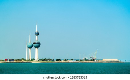 Panorama of Kuwait City in the Persian Gulf. The capital of Kuwait