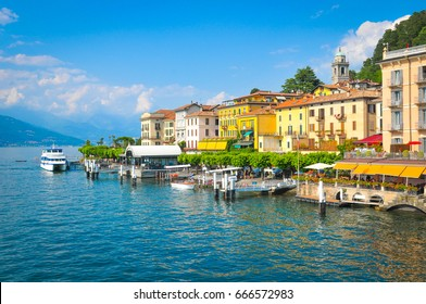 Panorama du lac de Côme à Bellagio, Lombardie, Italie
