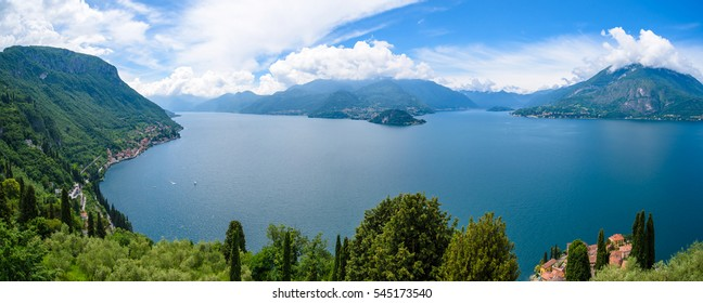 Panorama of lake Como, Lombardy, Italy