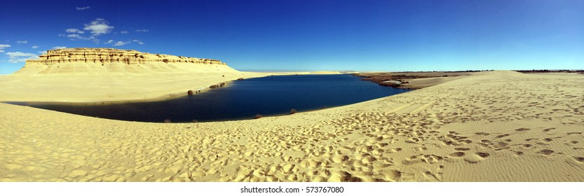 Panorama of Lake in the desert